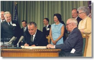 The history of Medicare includes Lyndon B. Johnson and Harry S. Truman